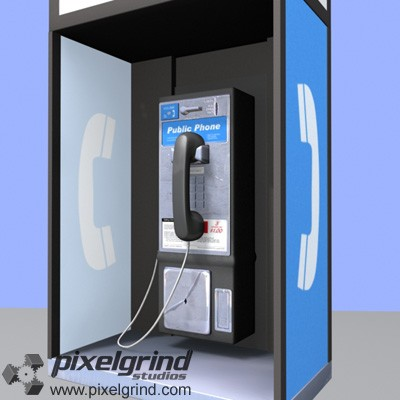 Pay Phone 3D v01 Main Image
