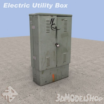 Electric Utility Box 3D 01 Main Image