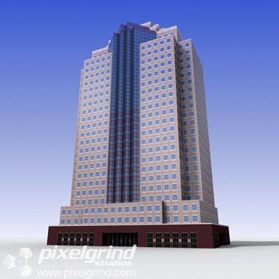 3D Office Building Tall 11 Main Image