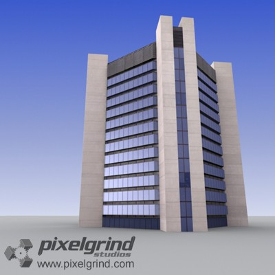 3D Office Building Tall 10 Main Image