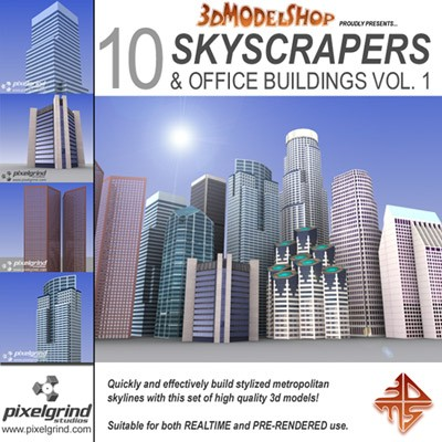 3D Skyscrapers Collection, Vol.1 Main Image
