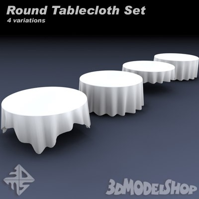 Round Tablecloth Set 3D Main Image