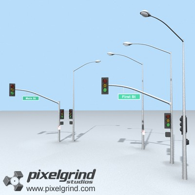 3D Street Lights Main Image