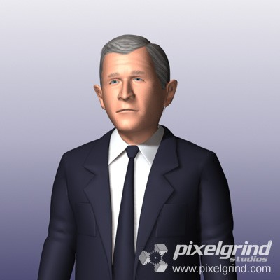 George W. Bush - 3D Character Main Image
