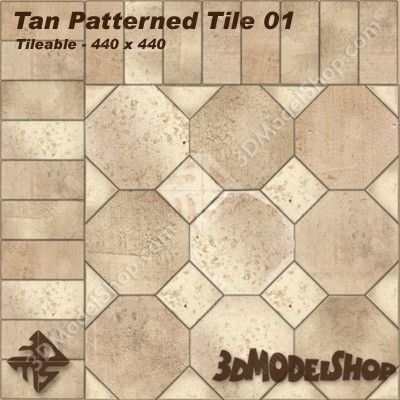 Tan Patterned Tile 01 Main Image